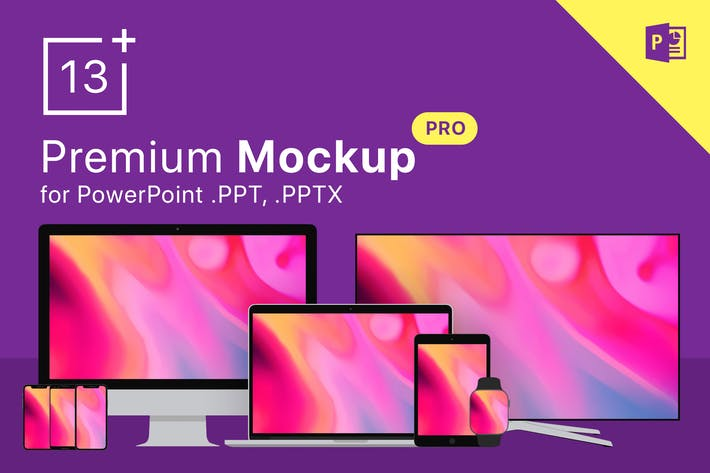 Thumbnail for 13 Mockups for PowerPoint