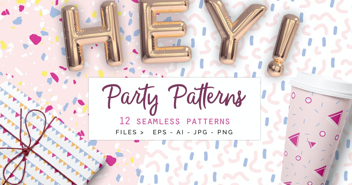 Download Party Patterns set of 12 by Youandigraphics