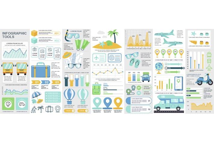 Thumbnail for Plantilla de diseño de Infografía de viajes