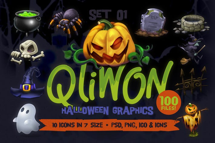 Thumbnail for QLIWON – Halloween Graphic Pack Vol.1