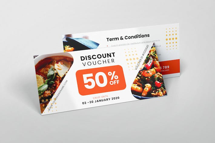 Thumbnail for Restaurant Cafe AI and PSD Gift Voucher