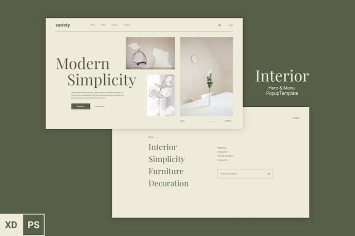 Thumbnail for Interior Web Hero & Menu UI
