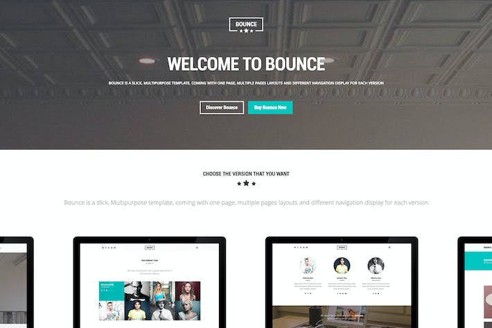 Thumbnail for BOUNCE - Responsive Multipurpose Template