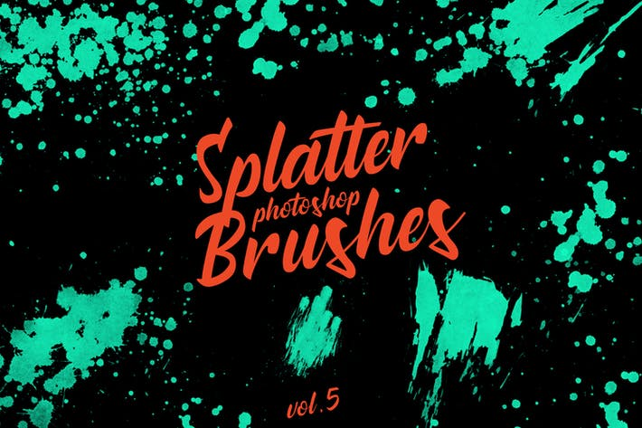 Thumbnail for Splatter Stamp Photoshop Brushes Vol. 5