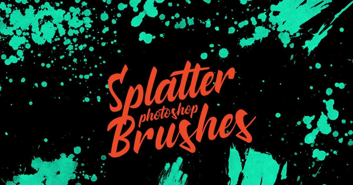 Download Splatter Stamp Photoshop Brushes Vol. 5 by FreezeronMedia
