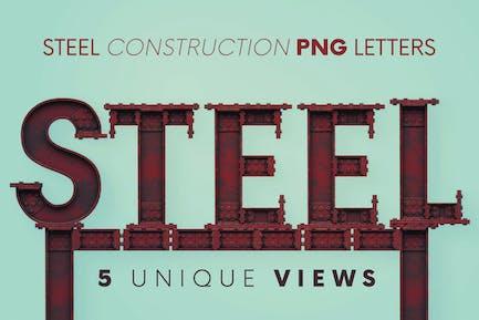 Steel Construction - 3D Lettering