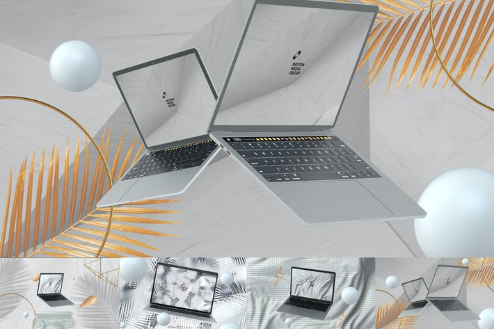 Thumbnail for 10 Light Laptop Mockups