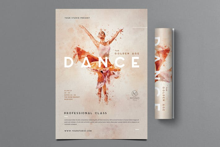 Cover Image For Ballet Dance Flyer