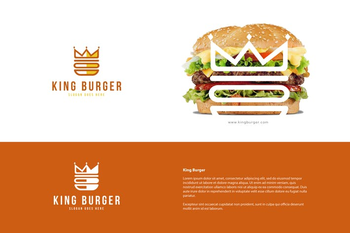 Cover Image For King Burger Logo