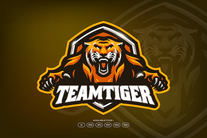 Thumbnail for Aggressive Angry Tiger