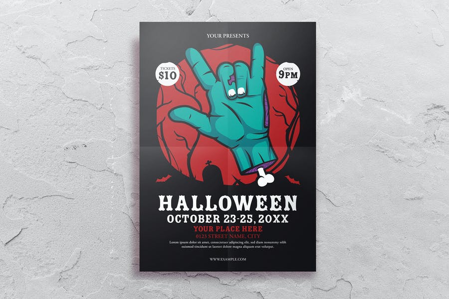 Halloween Party Flyer Template - product preview 0