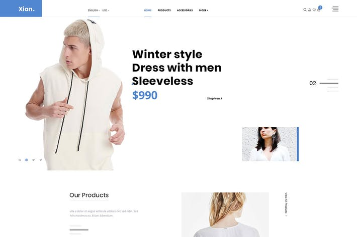 Cover Image For Xian - Multipurpose e-Commerce HTML Template