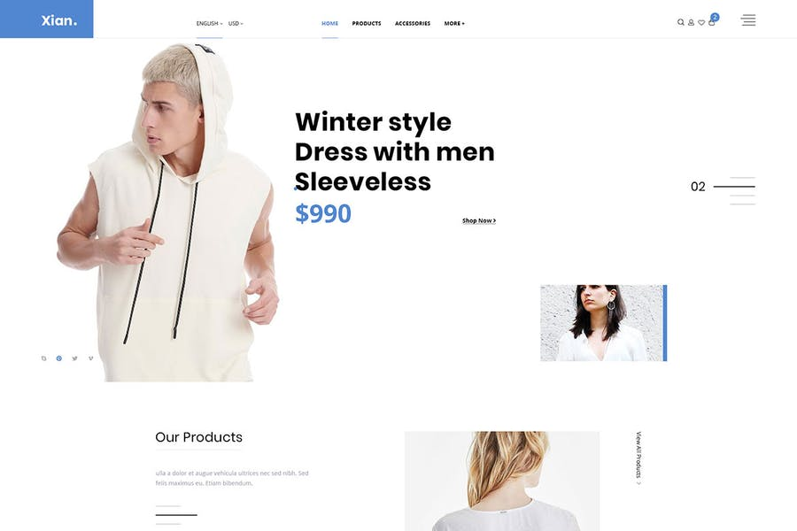 Xian - Multipurpose e-Commerce HTML Template
