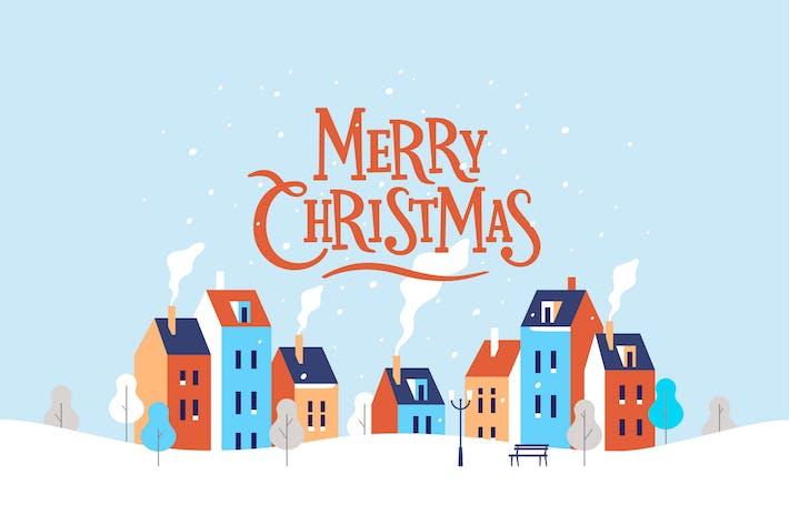Thumbnail for Paisaje urbano de Navidad de invierno