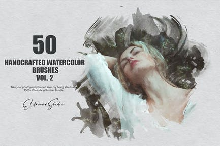 50 Handcrafted Watercolor Brushes - Vol. 2