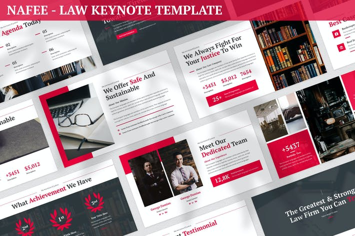 Thumbnail for Nafee - Law Keynote Template