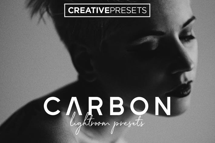 Thumbnail for Carbon Black and White Lightroom presets