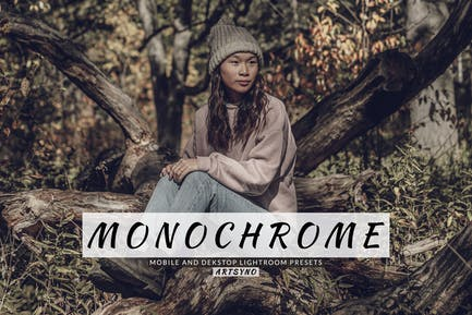 Monochrome Lightroom Presets Dekstop and Mobile