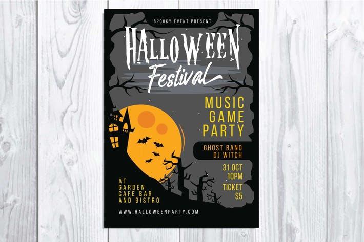 Thumbnail for Halloween Festival Flyer
