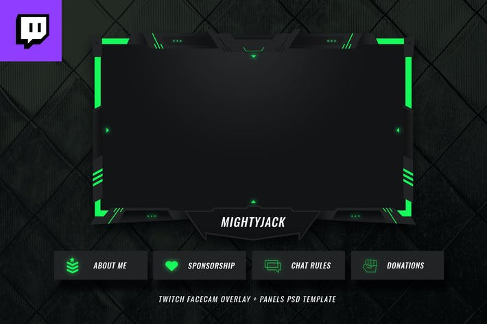 Thumbnail for Twitch Facecam Overlay V12
