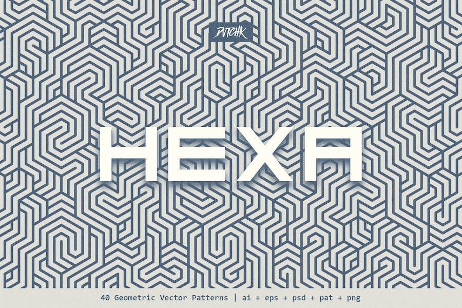 Hexa | Geometrische Vektormuster