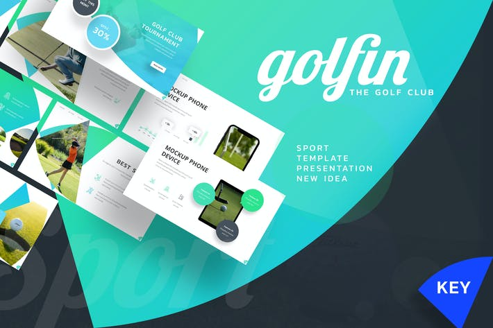 Golfin - Спортивный Шаблон Keynote