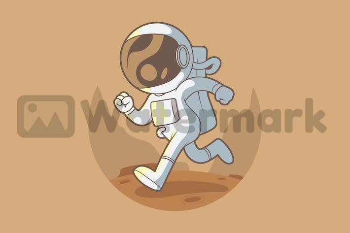 Astronaut läuft