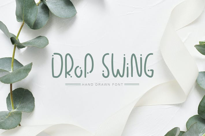 Thumbnail for Drop Swing Hand Drawn Font