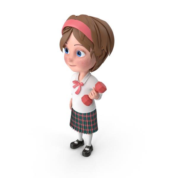 Thumbnail for Cartoon Girl Meghan Lifting Dumbbell