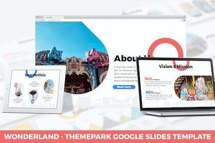 Страна чудес - Тема парк Google Слайды Шаблон