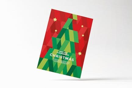 Modern Geometric Christmas Card Flyer
