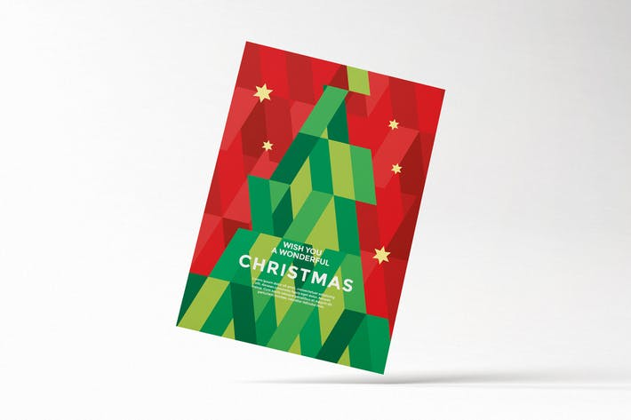 Thumbnail for Modern Geometric Christmas Card Flyer