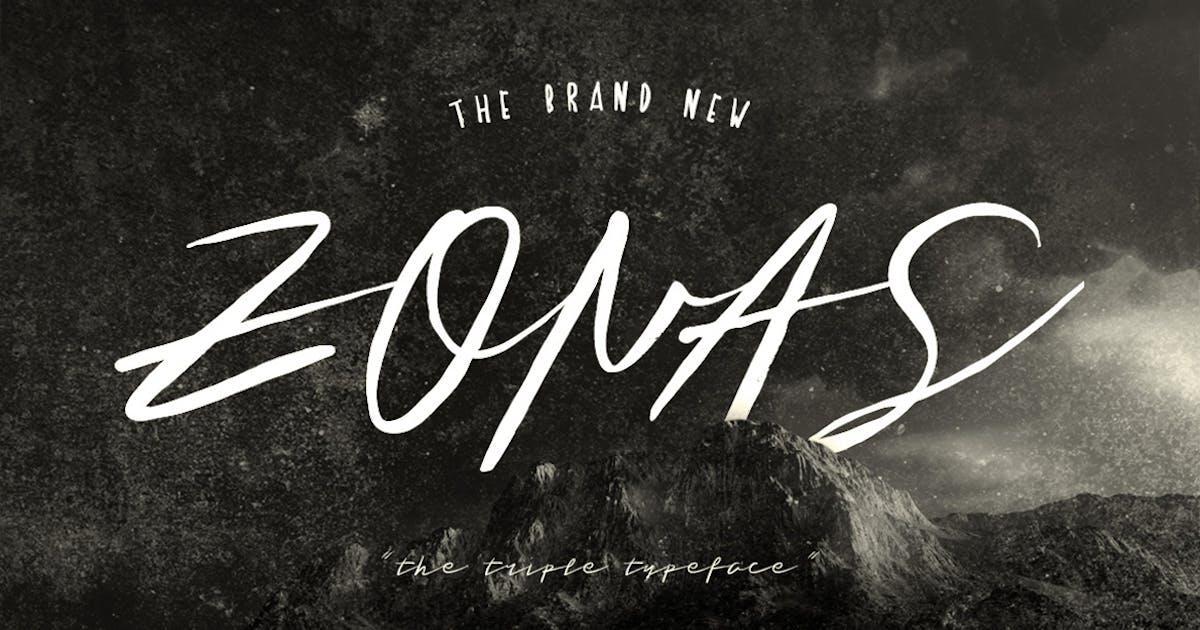 Download Zonas Brush Typeface by maulanacreative