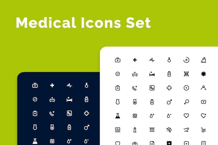 Thumbnail for Medical & Health Icons Set