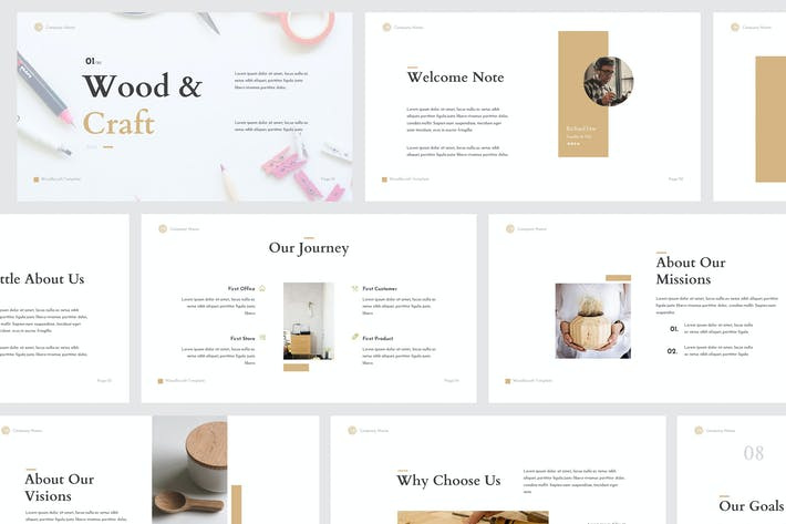 Thumbnail for Wood & Craft Powerpoint Template