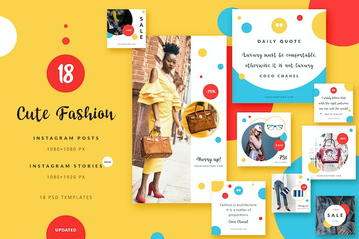 Cover Image For Cute Fashion - Instagram Posts & Stories