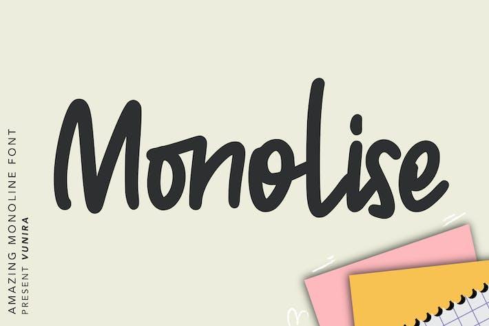 Thumbnail for Monolise   Amazing Monoline Font