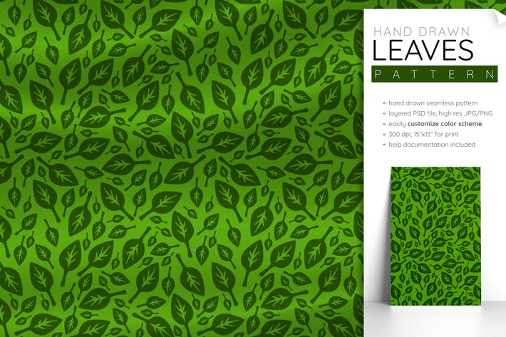 Thumbnail for Seamless Pattern Leaves (Leaf Pattern Foliage)
