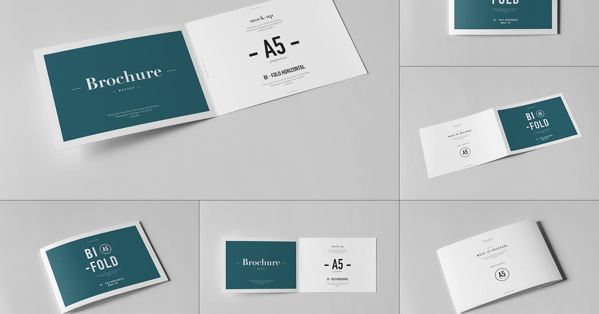 Download Bi-Fold A5 Horizontal Brochure Mock-up by yogurt86