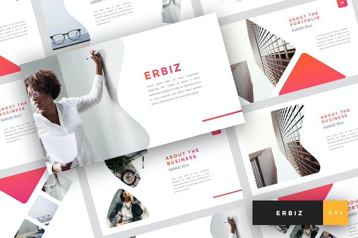 Cover Image For Erbiz - Business Google Slides Template