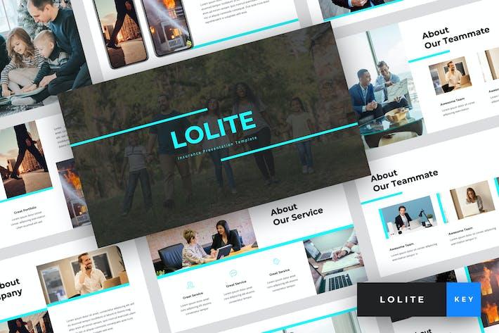 Thumbnail for Lolite - Insurance Keynote Template