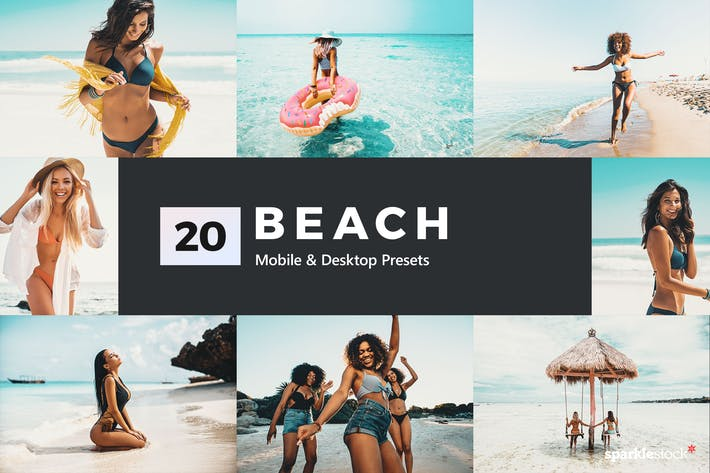 Thumbnail for 20 Beach Lightroom Presets & LUTs