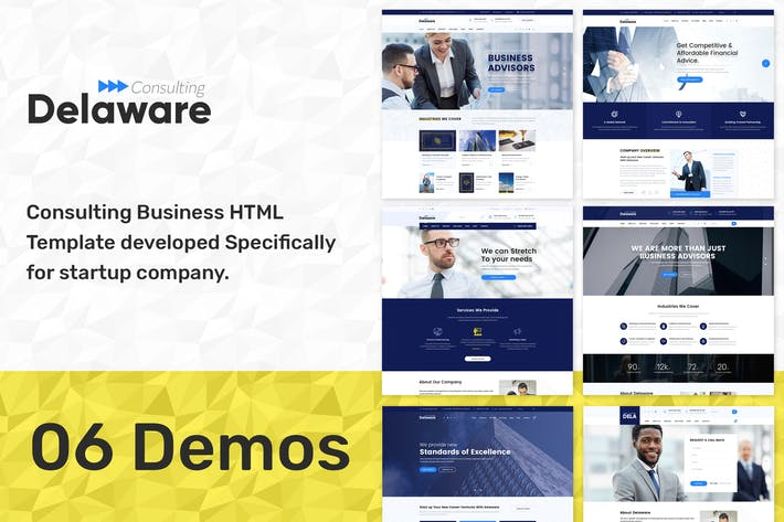 Thumbnail for Delaware - Start up Business HTML Template