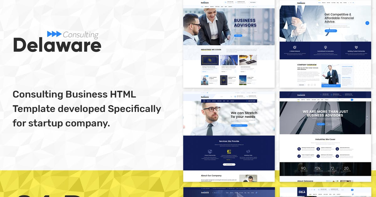 Download Delaware - Start up Business HTML Template by SteelThemes