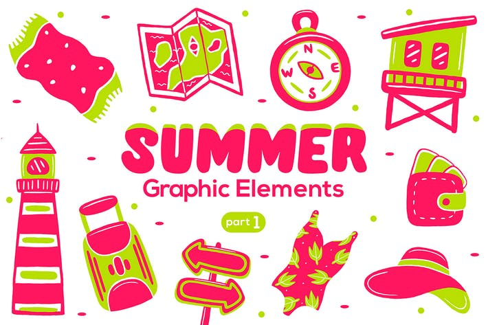Thumbnail for Summer Graphic Elements part 1