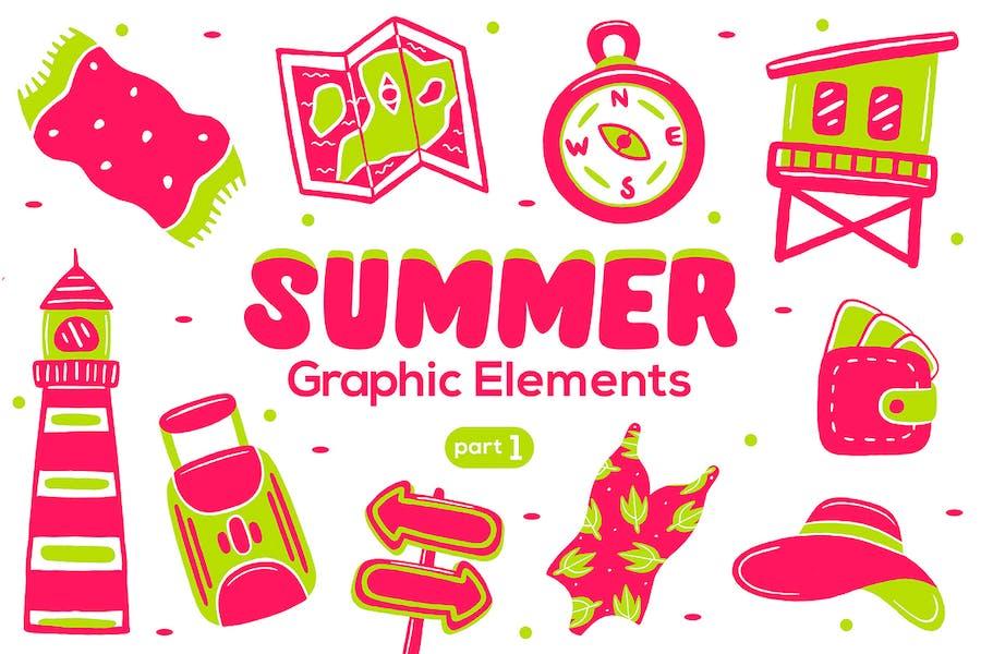 Summer Graphic Elements part 1