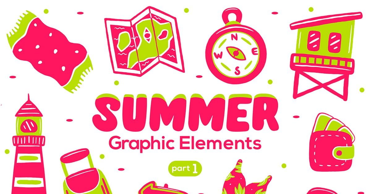 Download Summer Graphic Elements part 1 by medzcreative