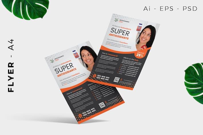 Thumbnail for Antioxidant / Wellness Flyer Design