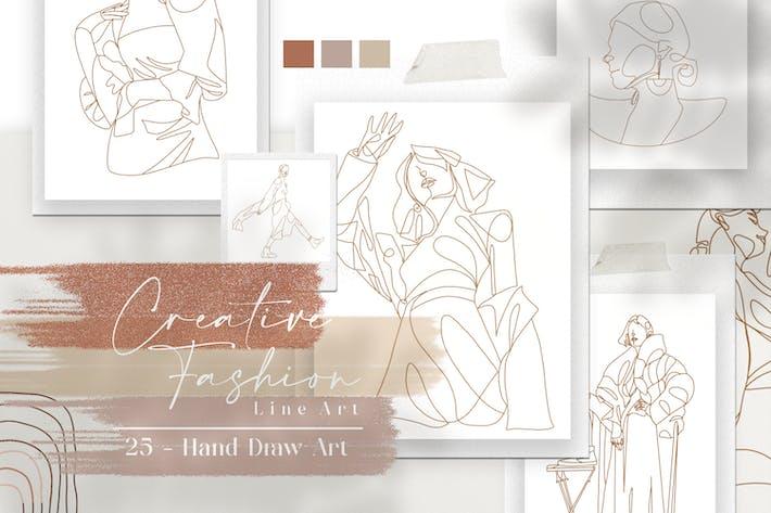 Thumbnail for Aesthetic Creative Fashion Lineart