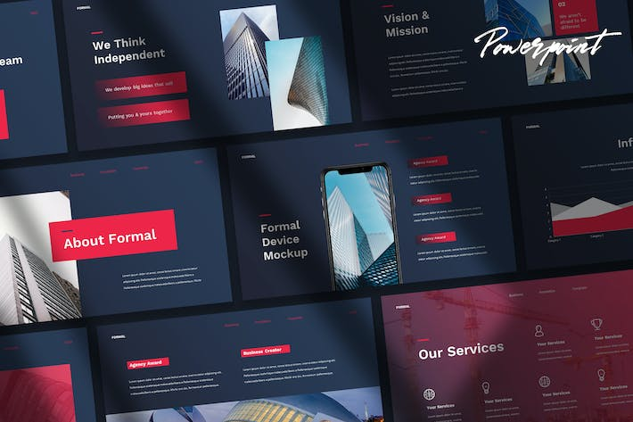 Thumbnail for Formal - Tech Business Powerpoint Template